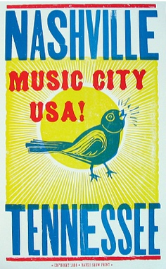 Tuesday's Giveaway - fr Hatch Show Print, Nashville