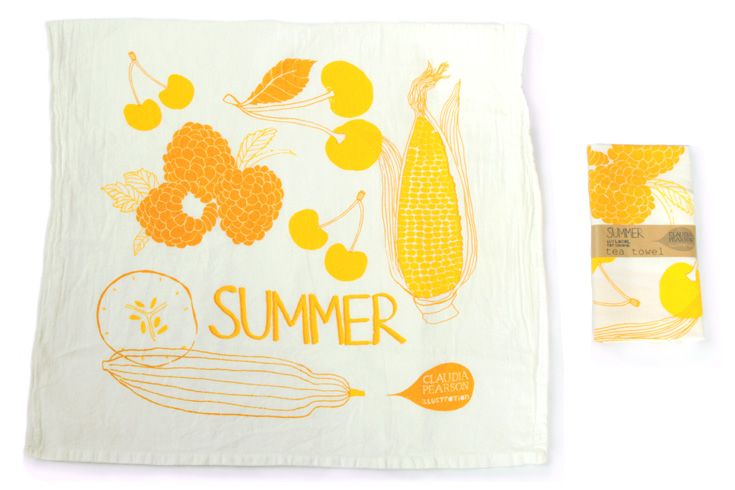 Claudia Pearson's Cheerful Summer Tea Towel - Today's Giveaway