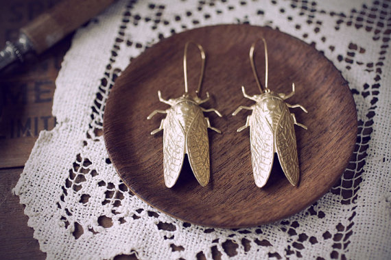 Cicada Earrings by Christine Domanic