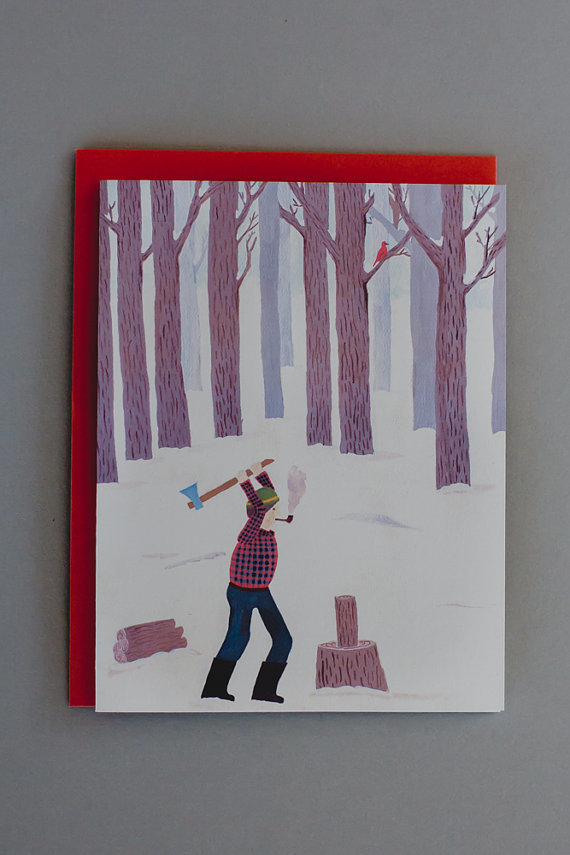 SMALL ADVENTURE LUMBERJACK CARD
