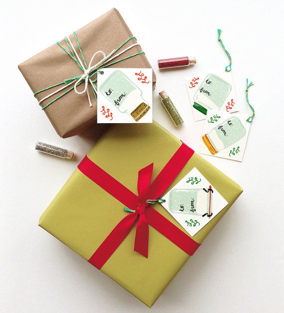 LITTLE LOW STUDIO HOLIDAY GIFT TAGS! SO CUTE!