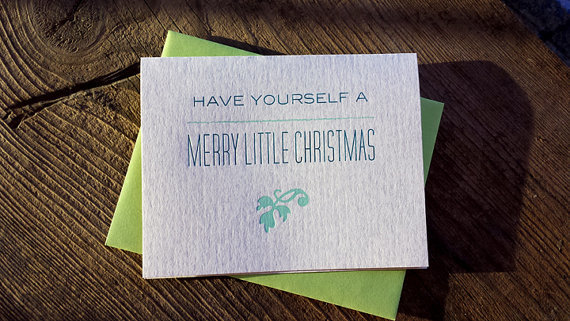 IRON LEAF PRESS MERRY LITTLE CHRISTMAS CARD