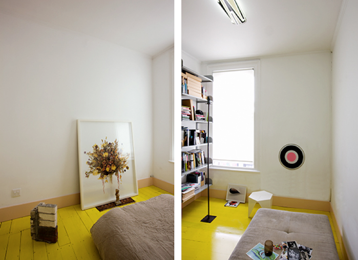 TREND ALERT: PAINTED YELLOW FLOORS VIA REMODELISTA