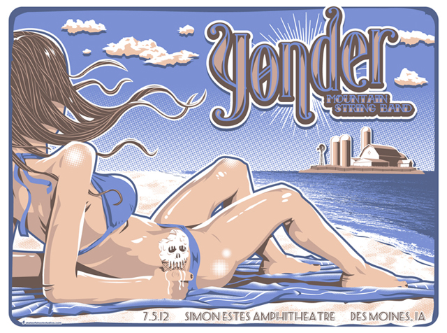 "YONDER MOUNTAIN STRING BAND POSTER BY STATE OF SHOCK STUDIO 18X24"" FIVE COLOR; 100 ED."