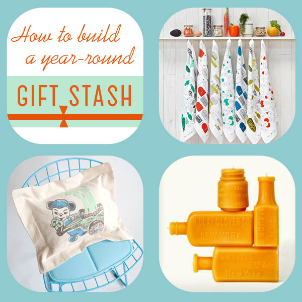 Finely Crafted shows you how to build up a year-round gift stash - thanks!
