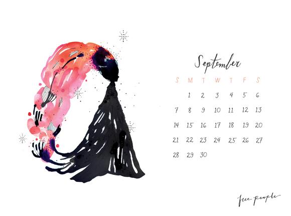 Download Free People's free September calendar.