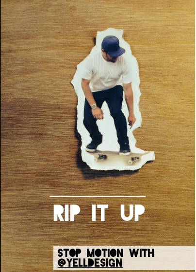 @YELLDESIGN'S  RIP IT UP  - INCREDIBLE/COOL STOP MOTION STELLER BOOK