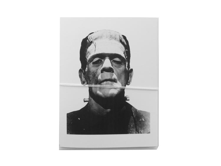 frankenstein halloween card cult paper