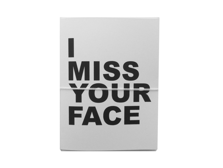 miss your face card cult paper