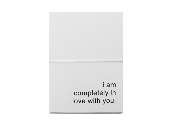 completely in love card cult paper