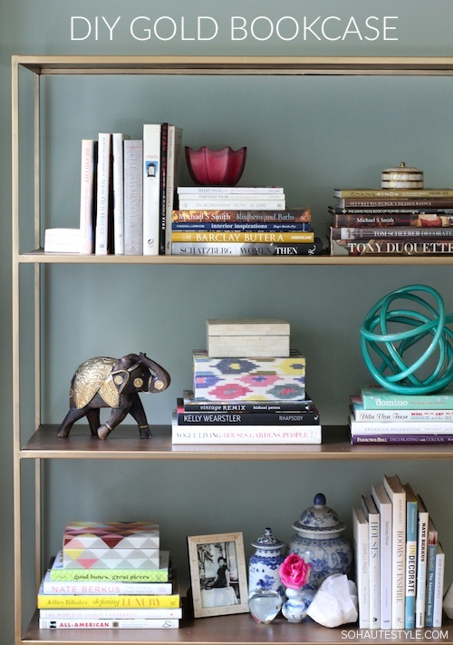 MAKE THESE  STYLISH GOLD SHELVES  - SO EASY!