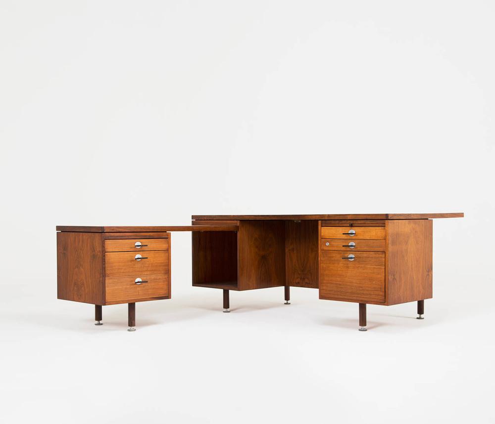 Jens Risom Rosewood Executive Desk For Sale Domestica