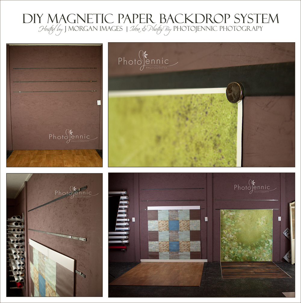 DIY Magnetic Back Drop Hanging System — Lifestyle Portraits and ...