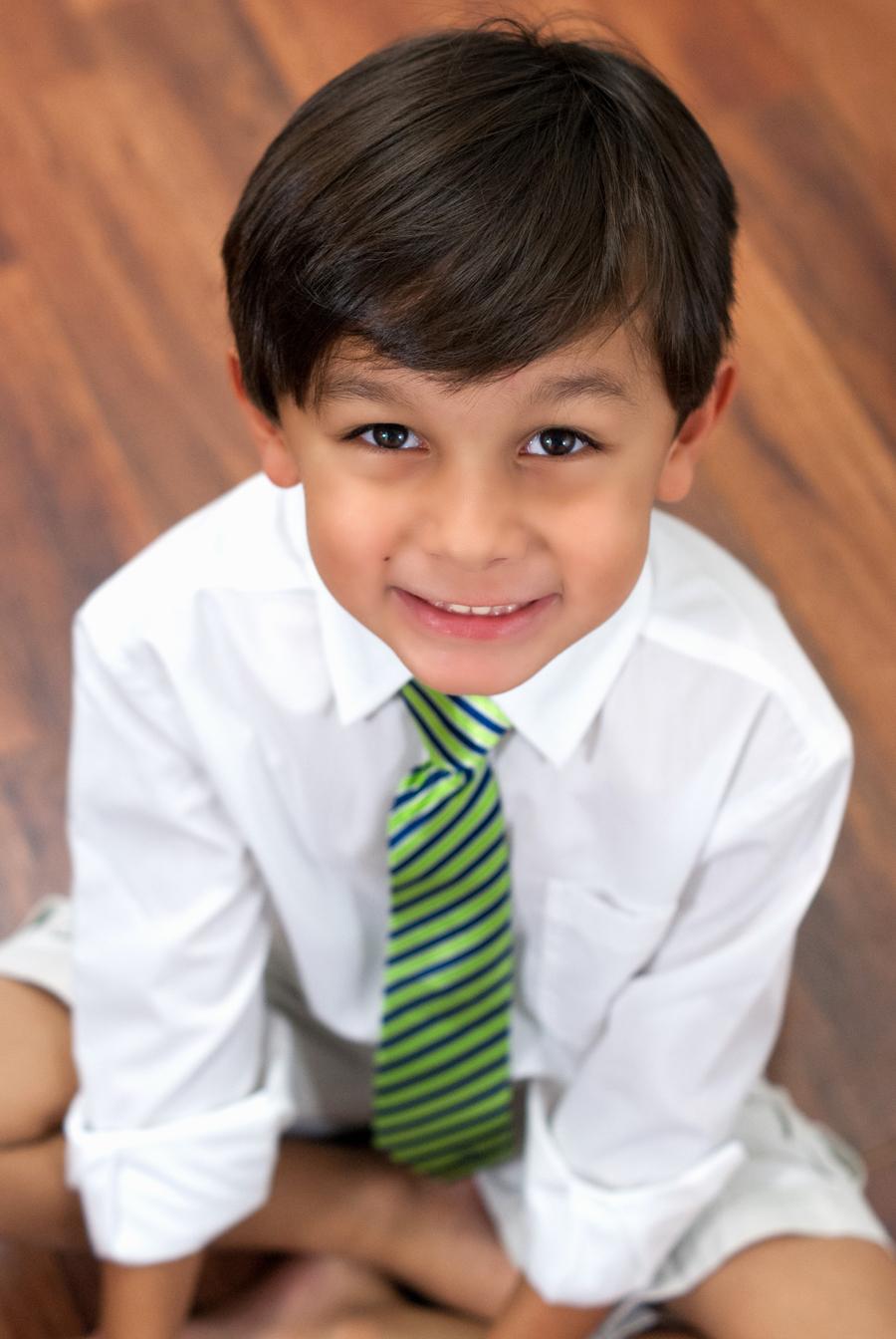 striped green tie