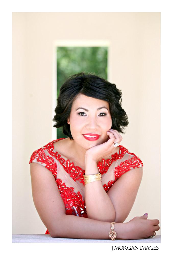 red dress beauty portrait