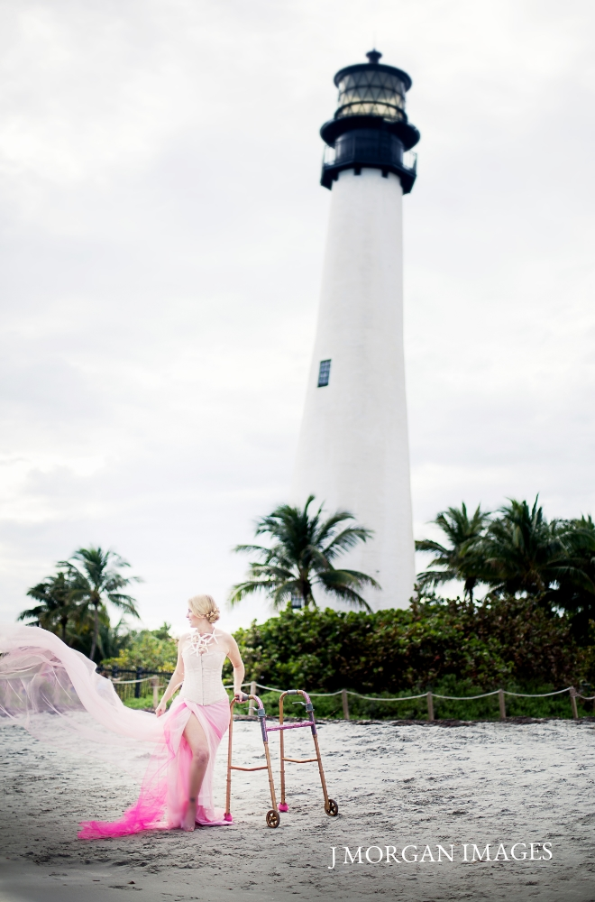 strength by the lighthouse in pink