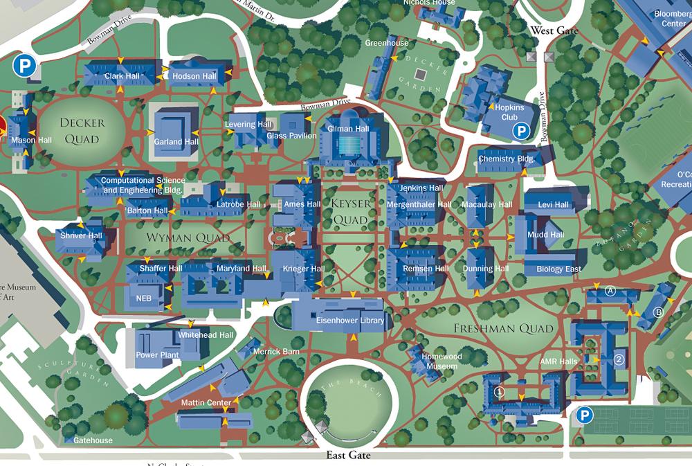 Jhu Campus Map ~ CIELOYLECHE