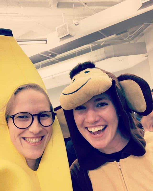 Qgenda town hall! Banana and monkey duo still goin' strong!