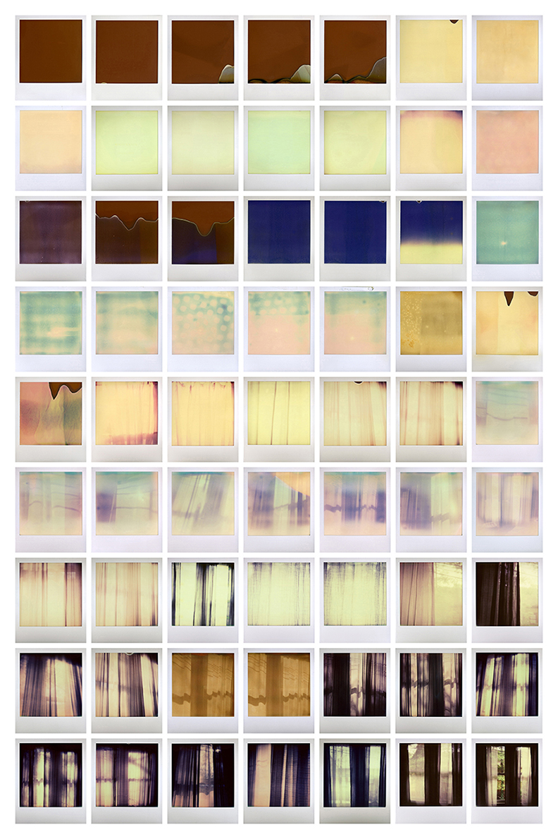 Bedroom Window, 2011-2014 | 63 Impossible Prints                        Included in Self Processing: Instant Photography at the Ogden Museum of Southern Art