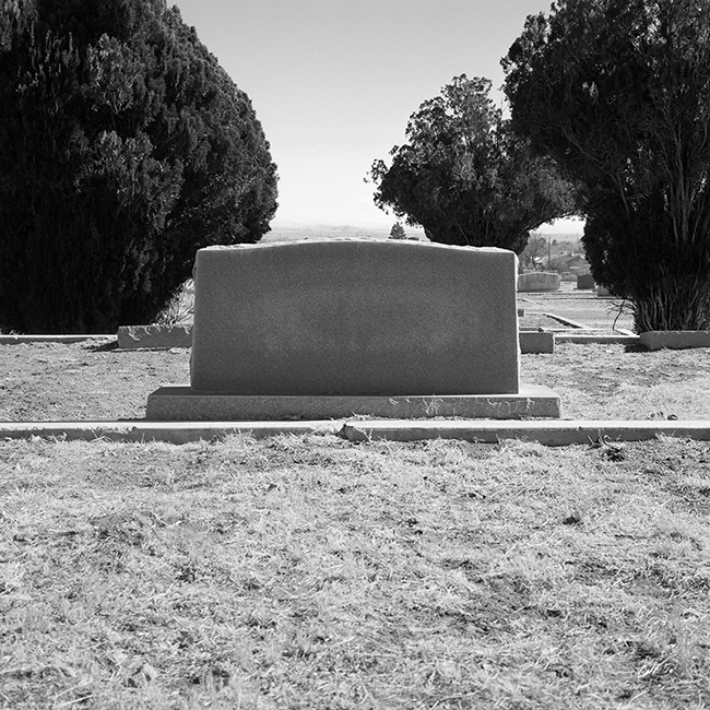 Anonymous Tombstone at the segregated Marfa Cemetery, Anglo Side