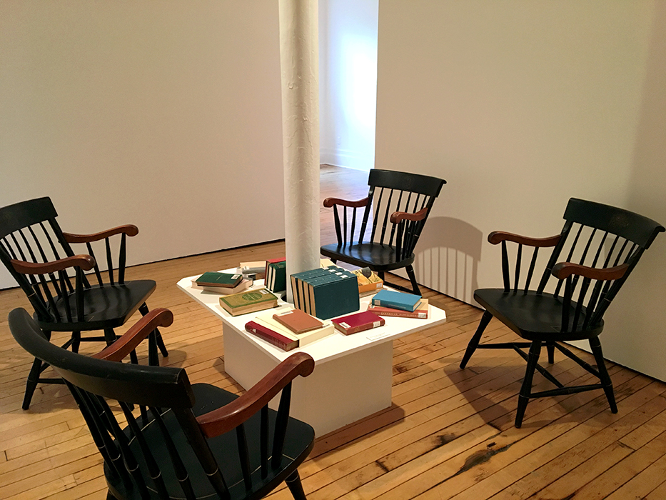 Transcendental Concord Primary Sources Installation at the Eli Marsh Gallery, Amherst College