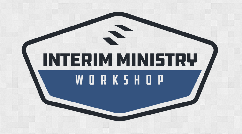 Interim Ministry Workshop logo, Jerrie Barber, 2017.