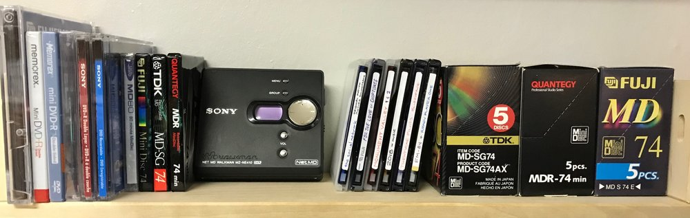 MiniDisc Shelf