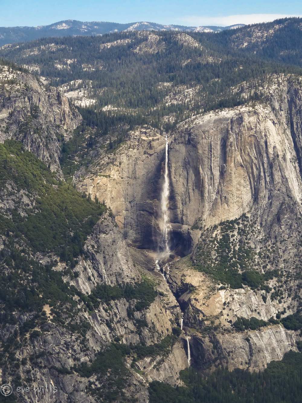 Iconic Yosemite Falls in springtime glory.