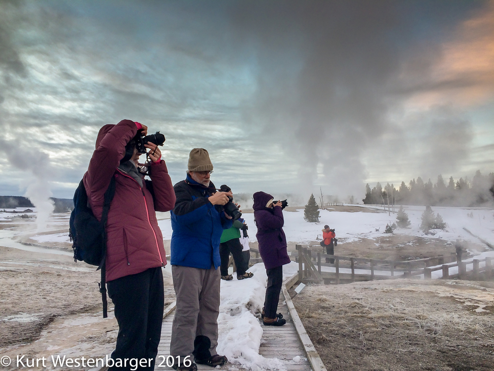 Morning photography outing along the Firehole River in Yellowstone's Upper Geyser Basin.