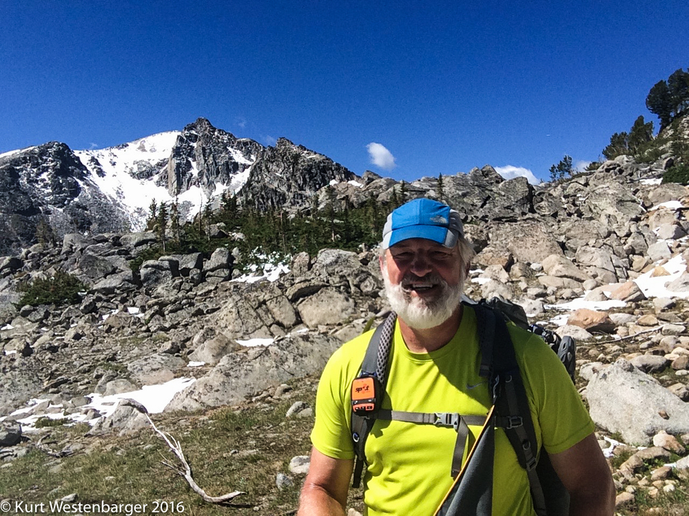 A selfie in Rock Creek Pass with Mount Tahepia in the background