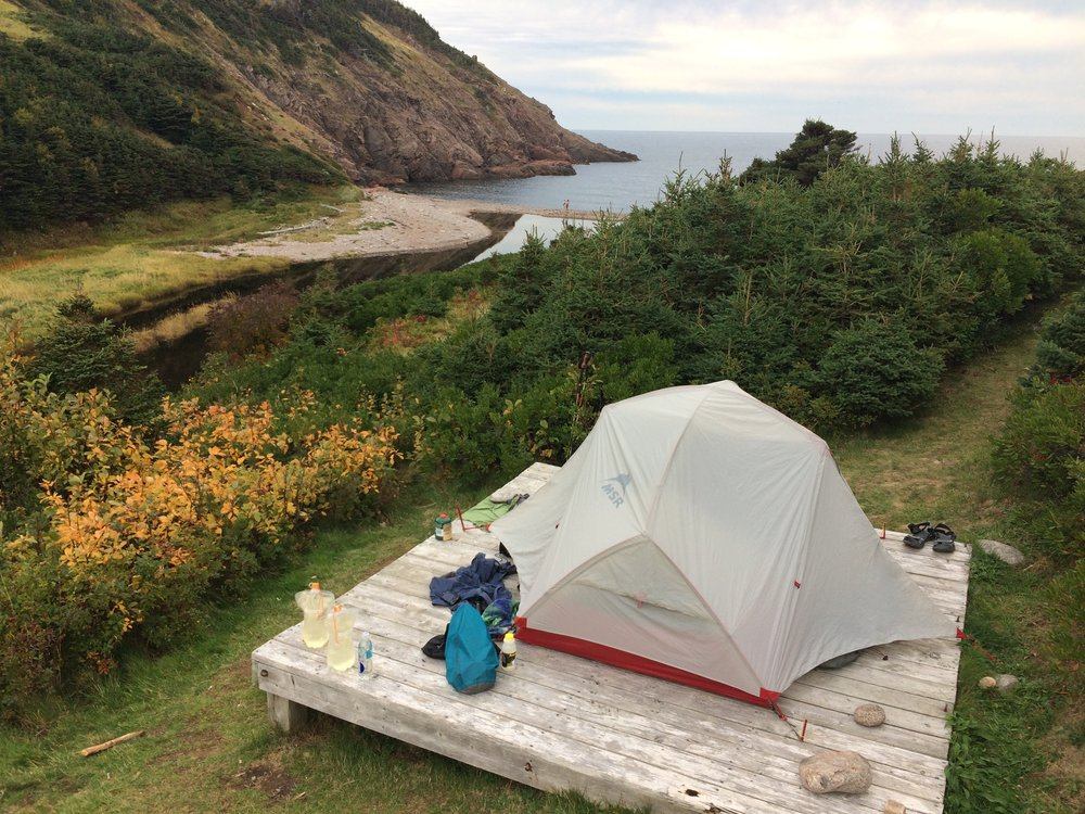 Camped in Nova Scotia