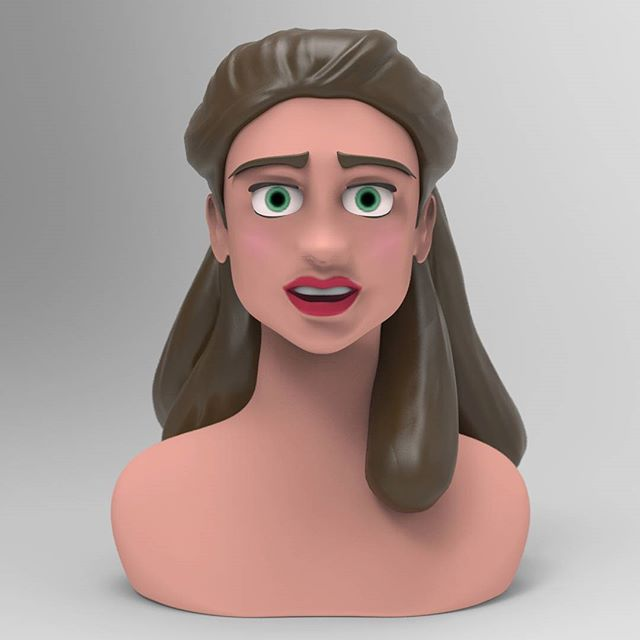 "I've been learning #ZBrush like a madman this summer.  I need to get my 3D portfolio up to snuff.  This is my first finished ""speed"" sculpt.  This character closely resembles Tarzan's mother from the Disney flick. www.brucemevans.artstation.com #3Dart #3dmodel #keyshot #disney #tarzan #ohiostate #design"