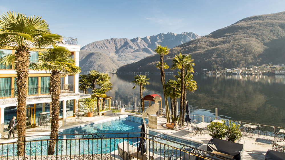 Pool view, Swiss Diamond Hotel Lugano