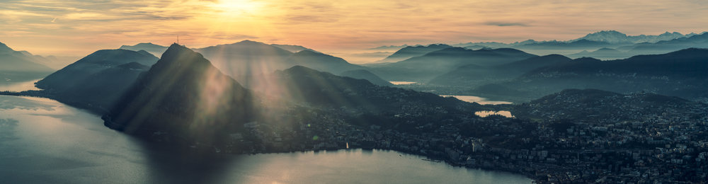 View from Monte Brè over Lugano.