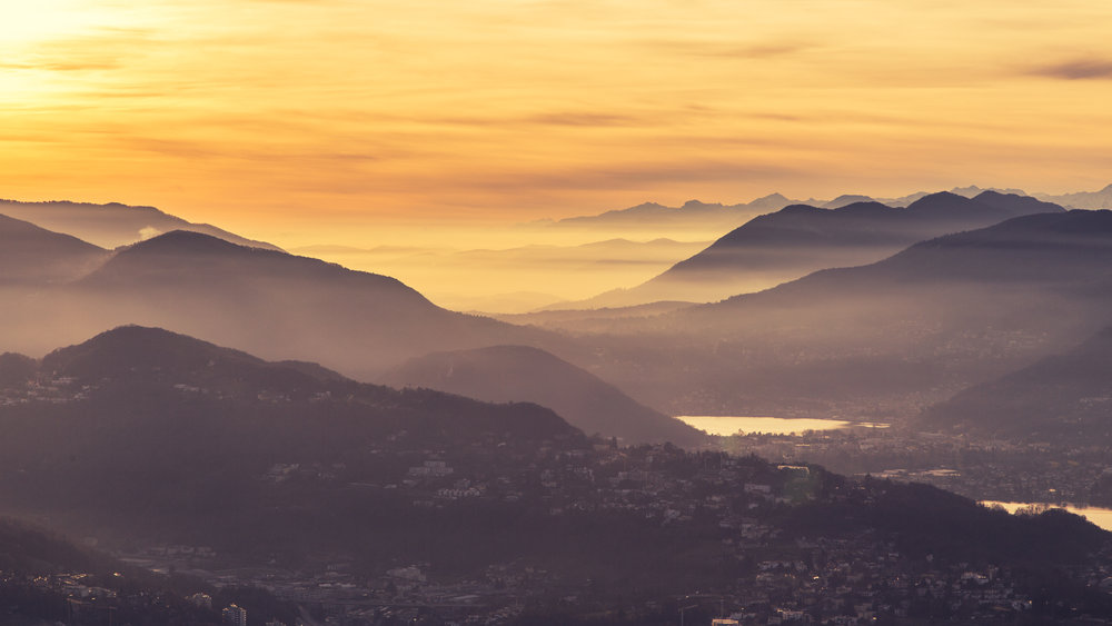 Mountains behind Lugano