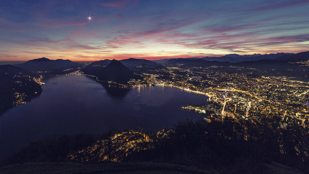 The lights of Lugano