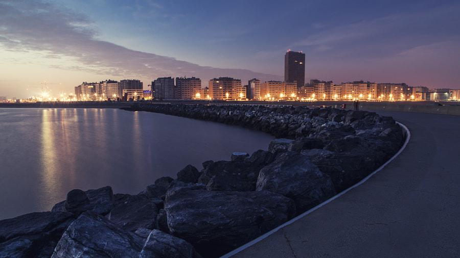 Ostend skyline