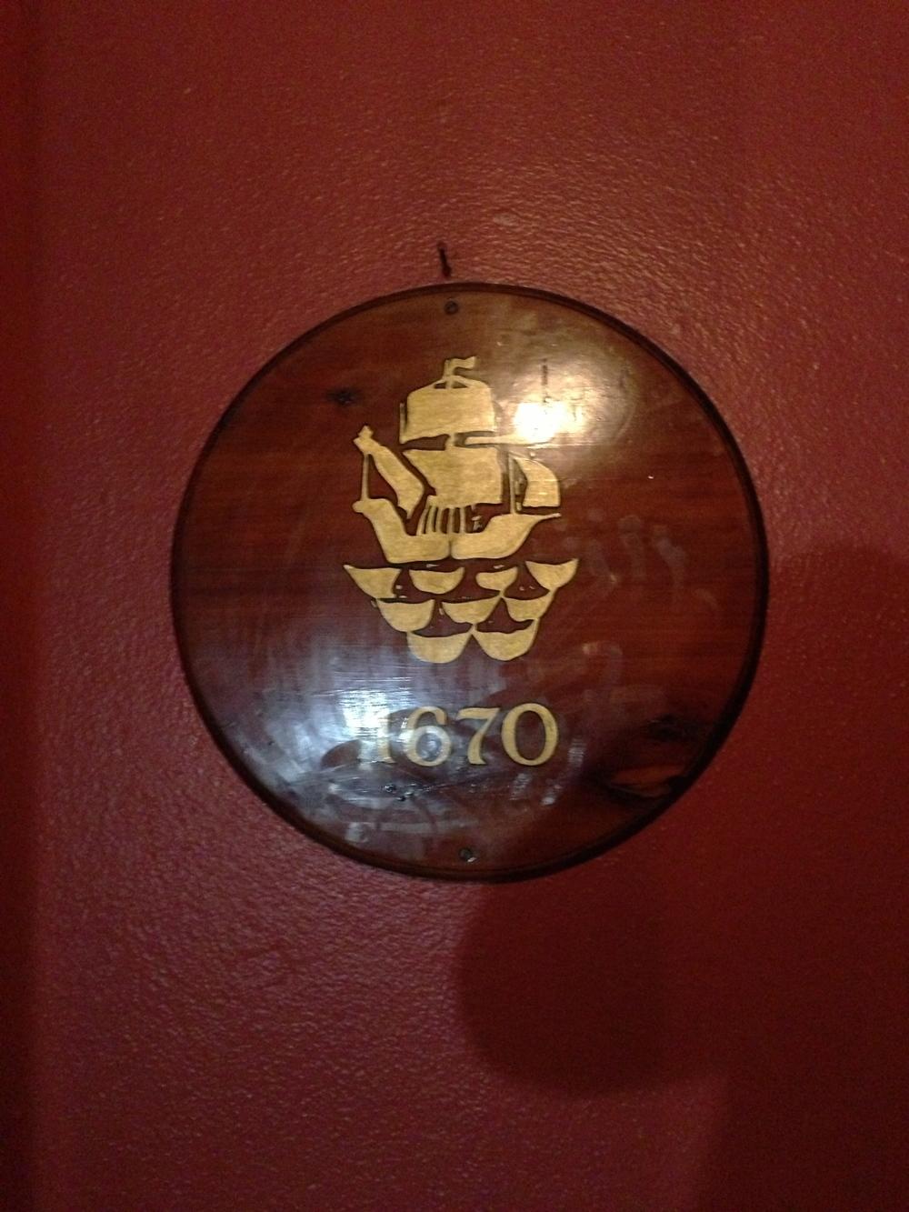 Bermuda Restaurant Founded 1670 - 2013