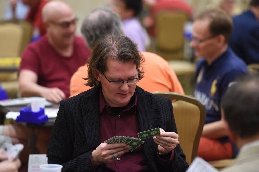 Robert playing, New Orleans NABC, March 2014
