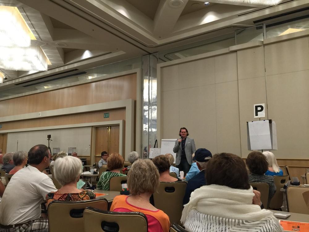 Robert teaching in Irvine, CA, September 2015