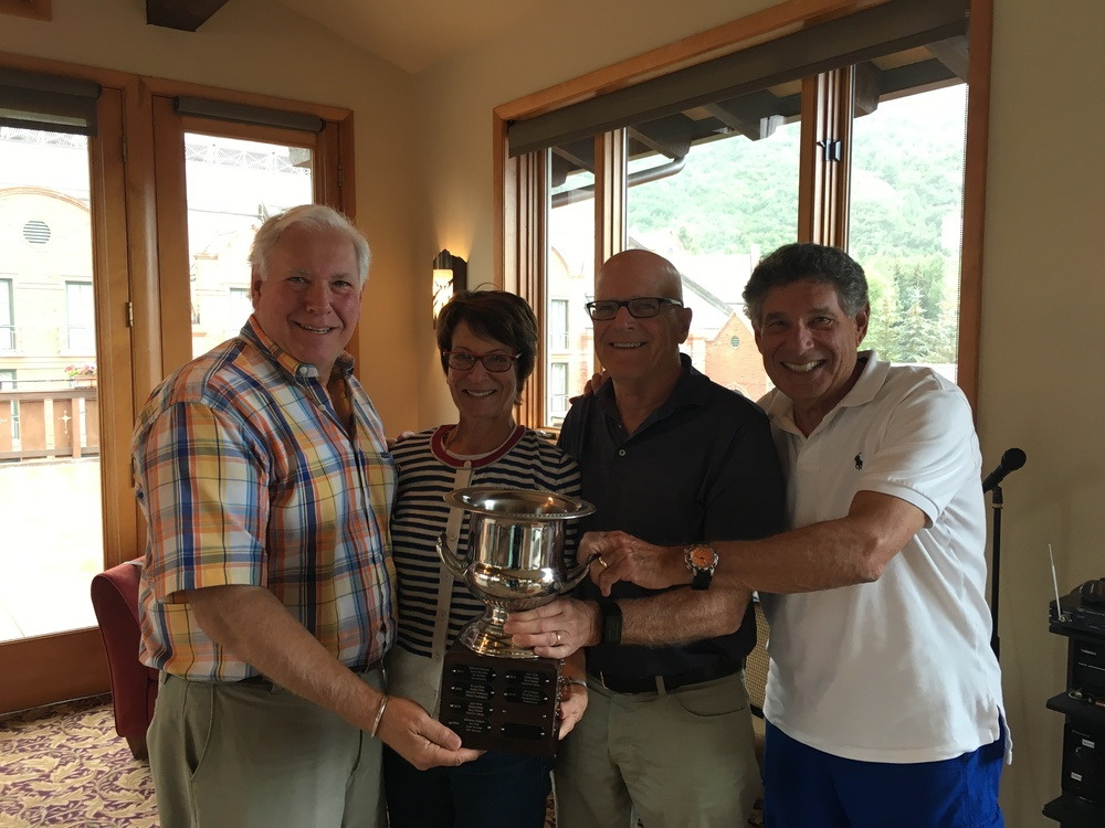 Congratulations to the winners of the 2016 Aspen Team Championship!  (l-r)  Bill Multack, Liz Adams, John Adams, and Bert Solomon