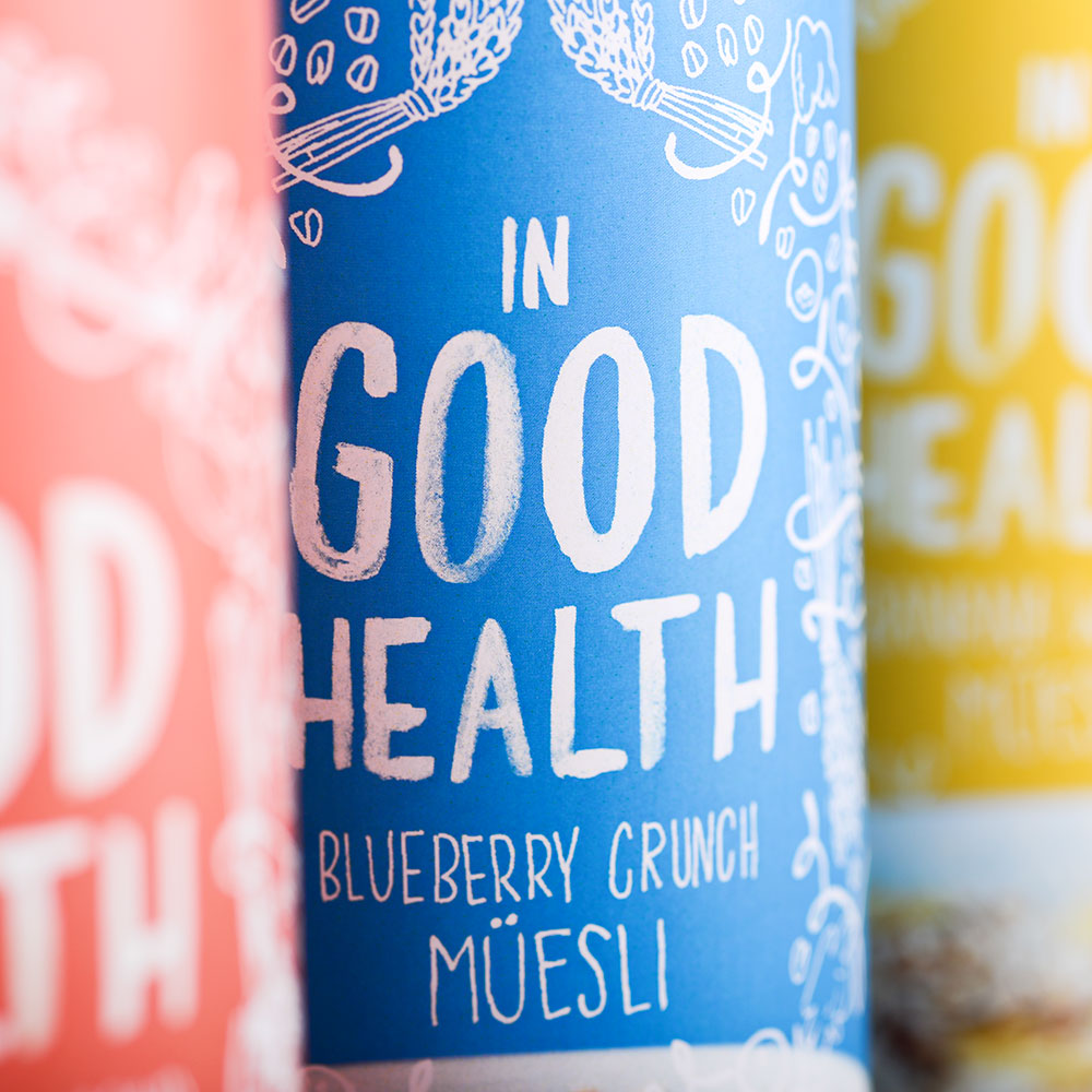 IN GOOD HEALTH Branding, packaging, illustration, lettering