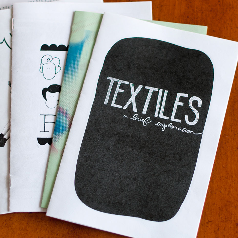 TEXTILES ZINE Illustration, lettering