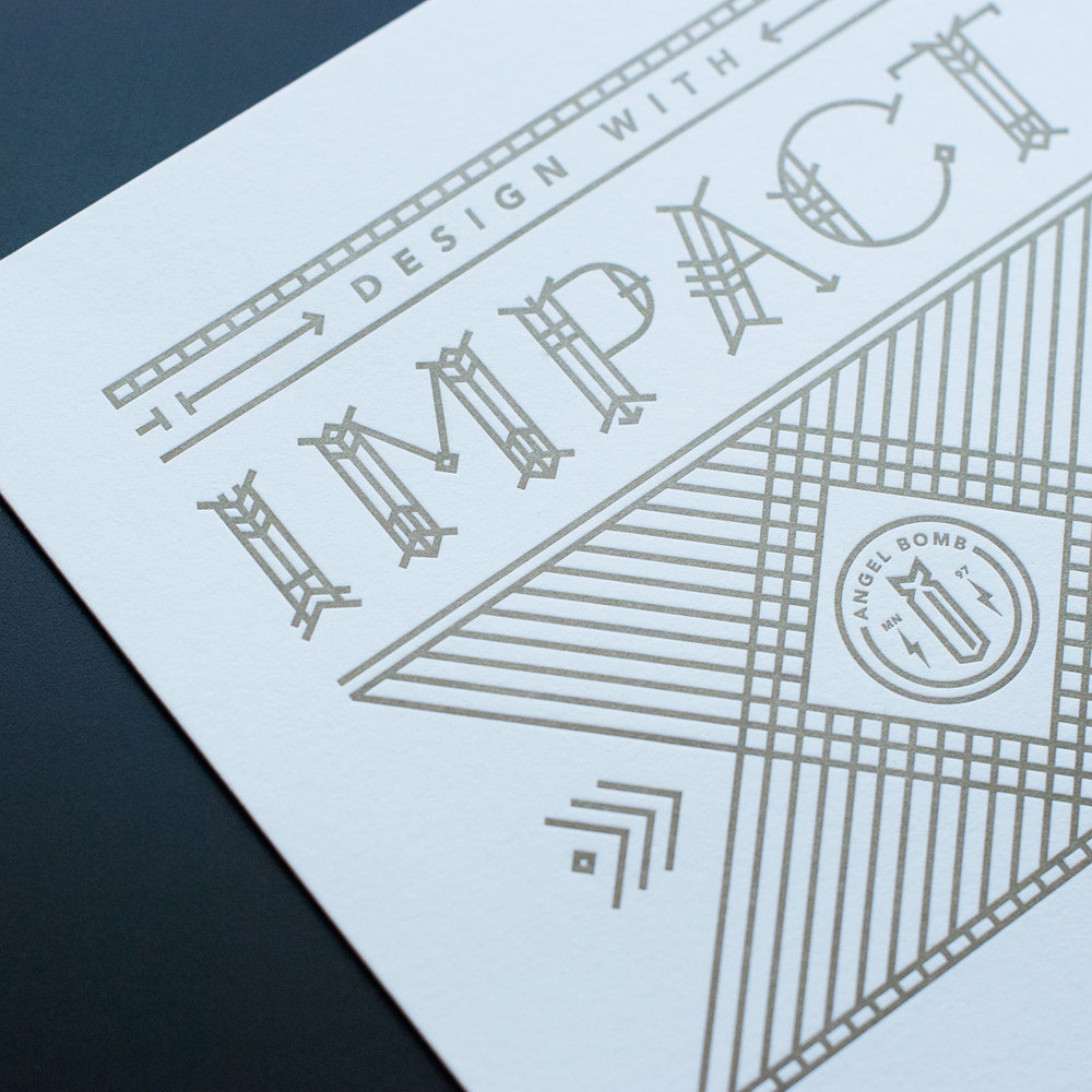 DESIGN WITH IMPACT Print design, lettering