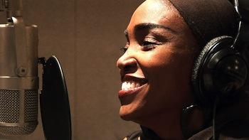 Emeline Michel, singer, UN Women