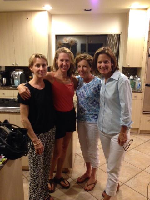 That's Peggy, far right. (L to R - Custis Glover, Kim Donovan Henley, Beth Blatt a/k/a me)