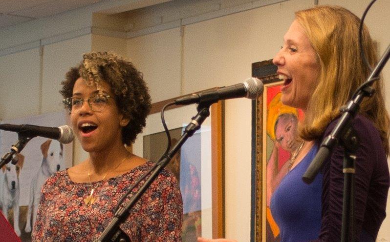 Amber Lewis and Beth Blatt perform song Blatt wrote, inspired by Hour Children.