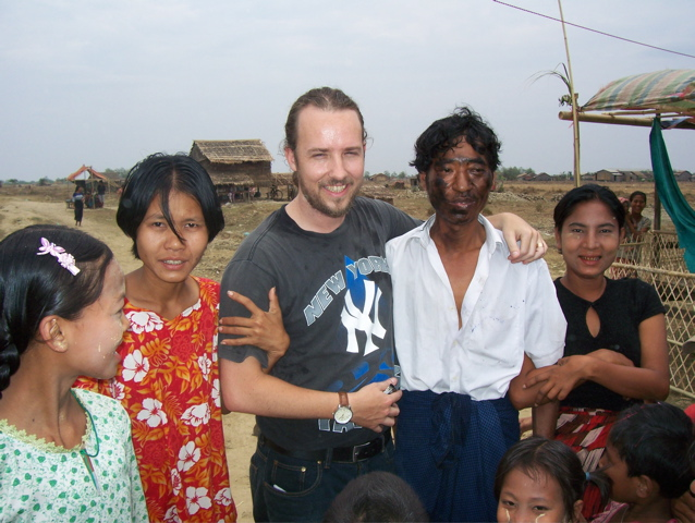 Getting to know people in a Burmese slum.