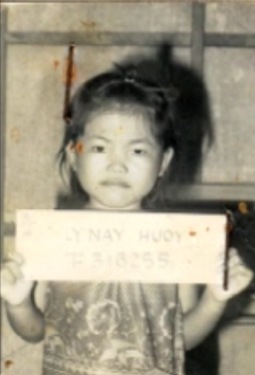 My wife Nay as a child refugee, in a Thai refugee camp.