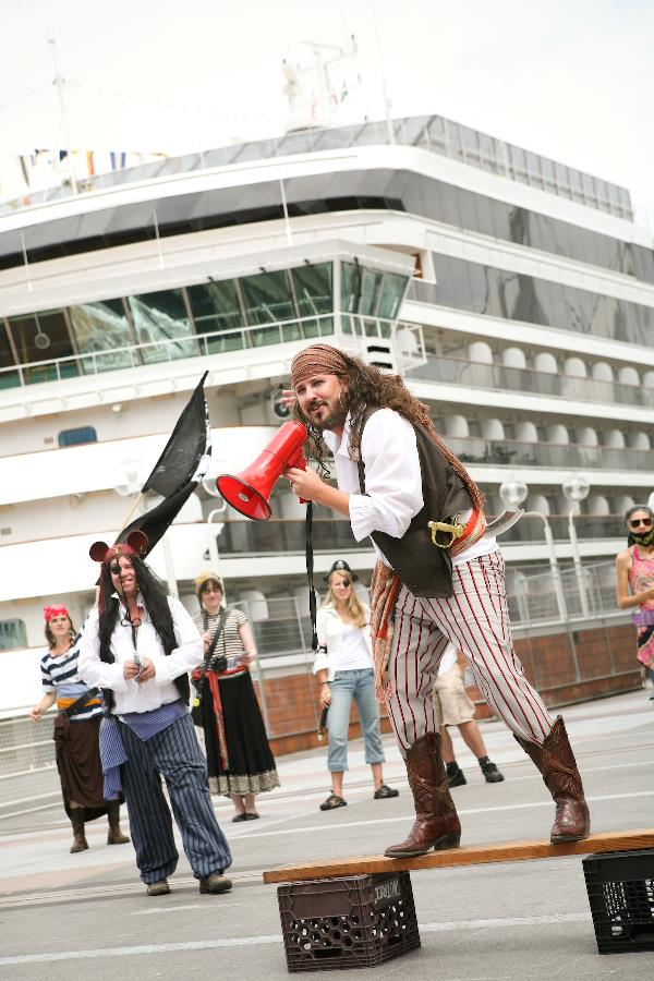 The Pirates of Justice - for protesters who like wearing silly hats and tight pants...